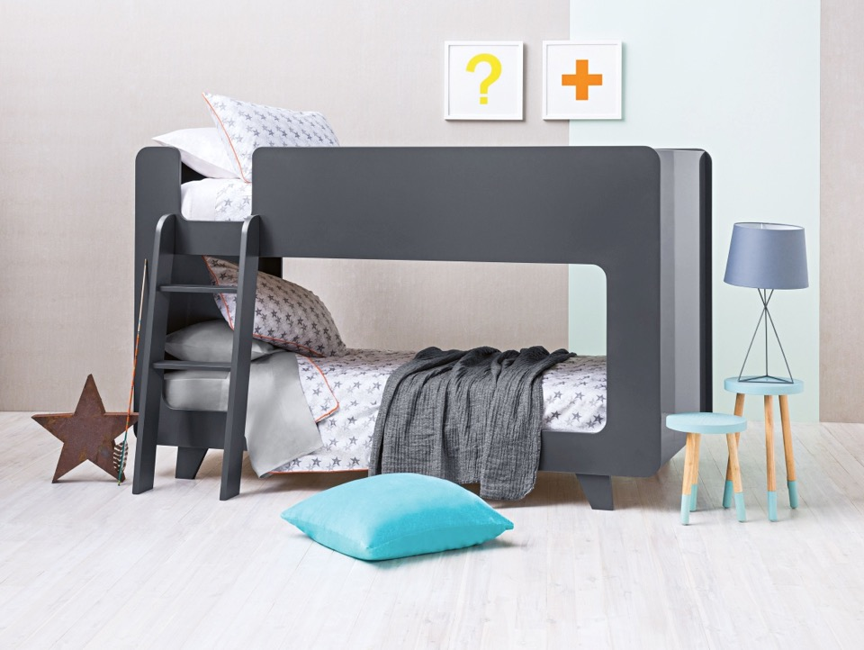 Lovely Scandi inspired Frankie bunk bed and accessories from Domayne