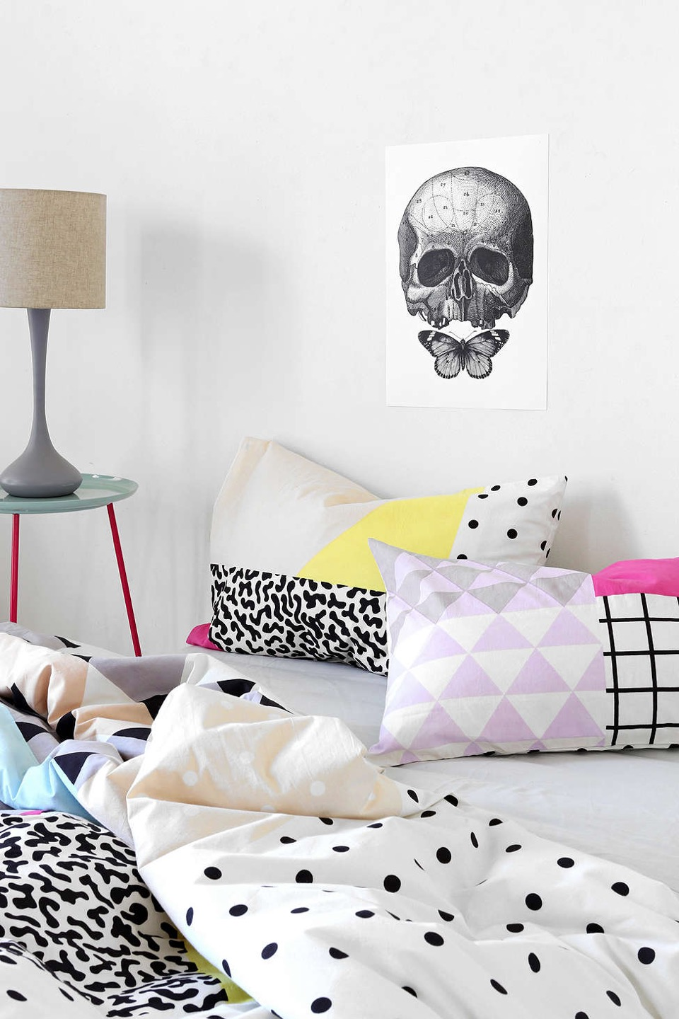 Home Pattern block pillow cases and duvet cover from Urban OutfittersUrban Outfitters Pattern